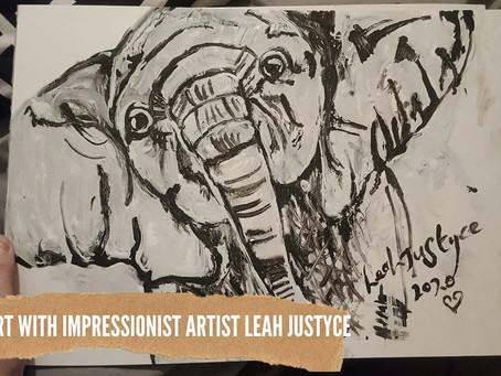 DAILY ART VIDEO   AMAZING ART VIDEO   PAINTING A BABY ELEPHANT [Leah Justyce Artist]