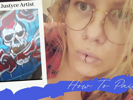 DAILY ART VIDEO | HOW TO PAINT SKULL AND ROSES ON A CAR #2 [Leah Justyce Artist]