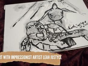 DAILY ART VIDEO | AMAZING ART VIDEO | PAINTING SEA TURTLES [Leah Justyce Artist]
