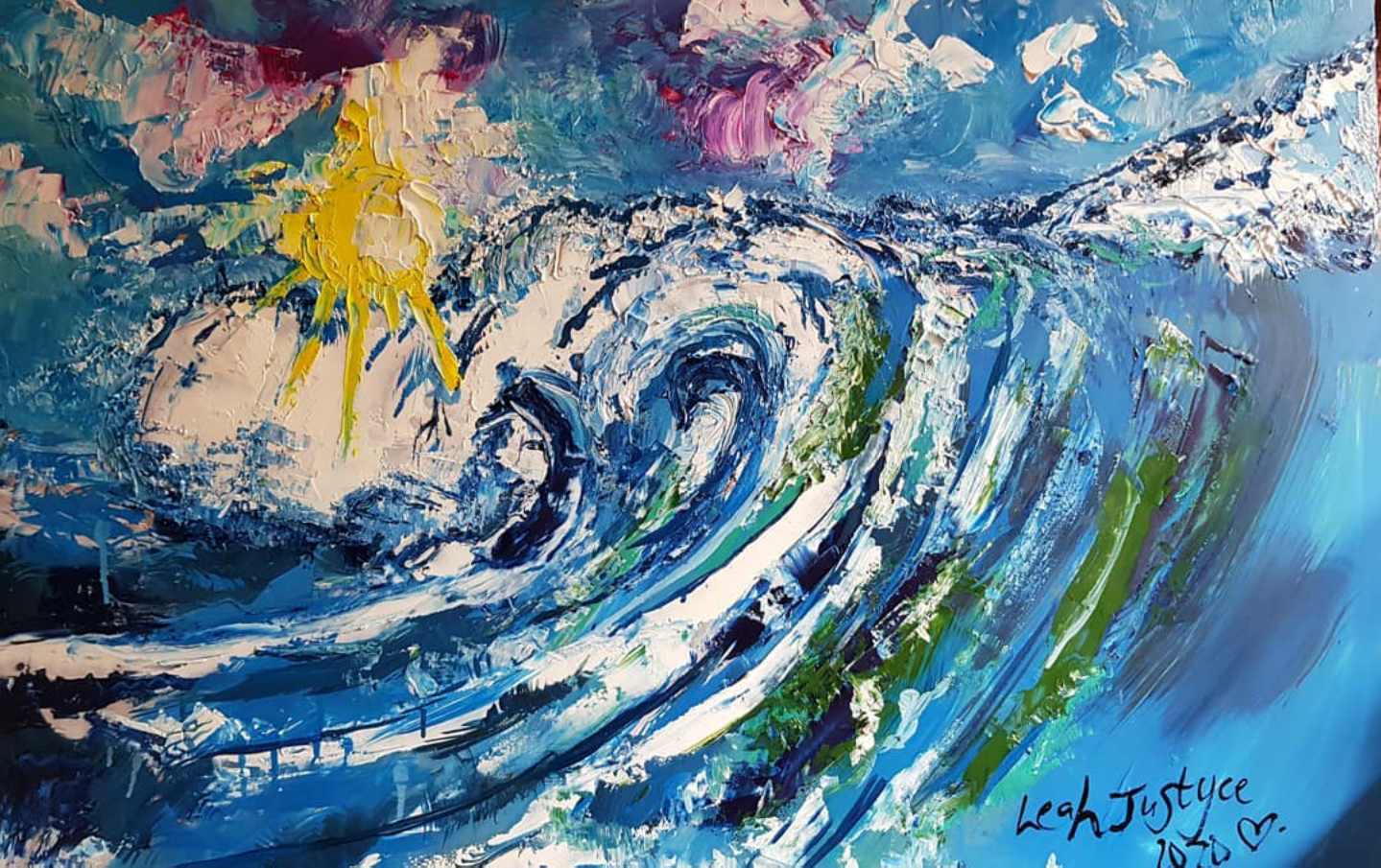 Leah Justyce Waves Oil Painting