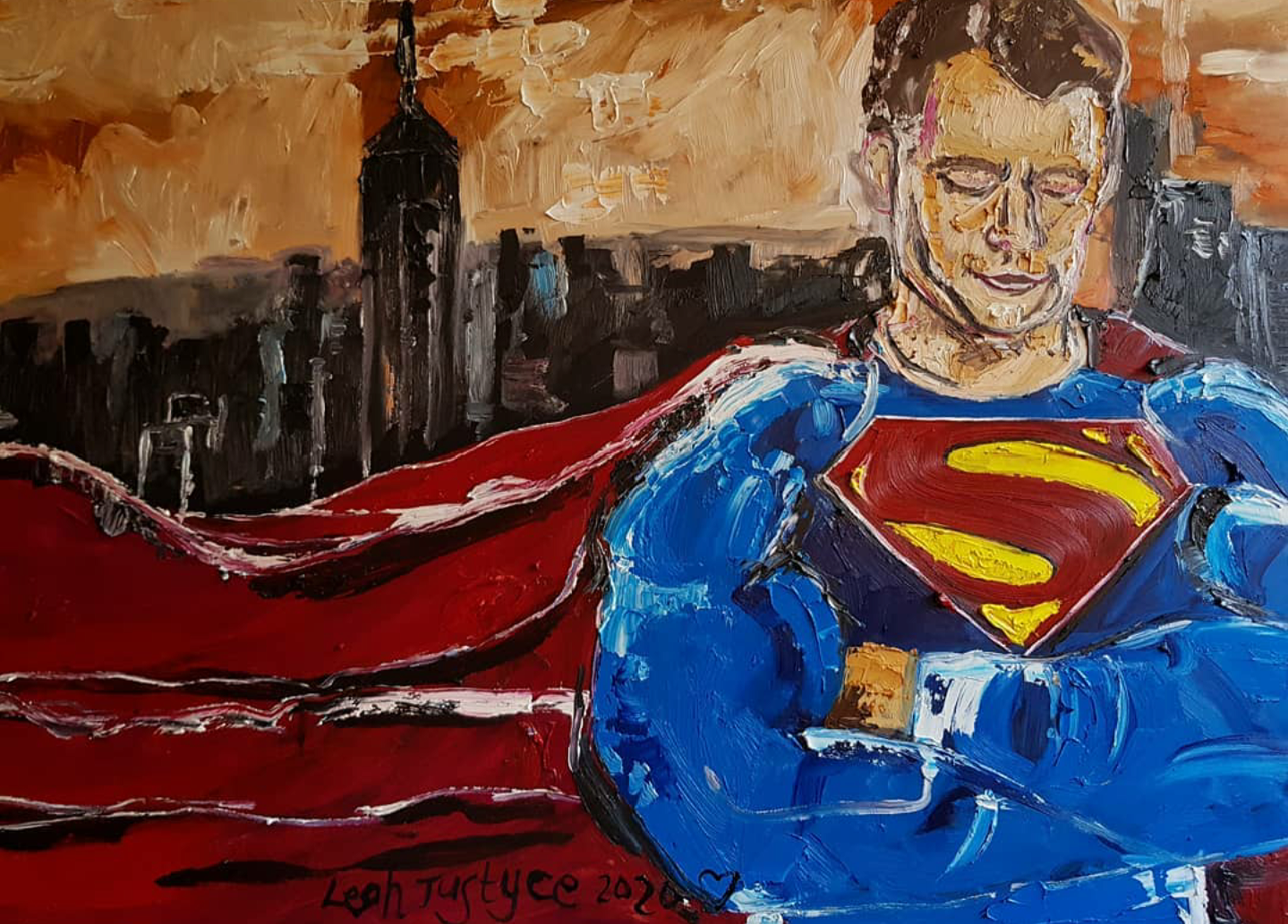 Superman Oil Painting