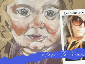 Daily Art Video   How To Paint A Child Portrait By Leah Justyce #2
