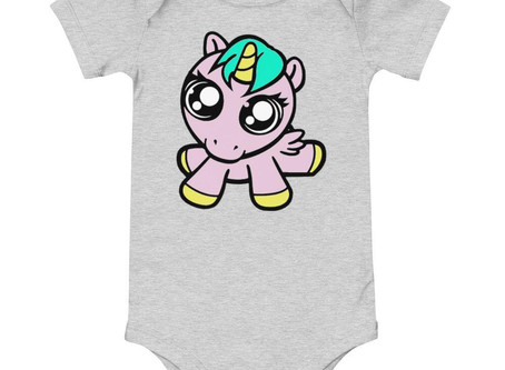 Baby Unicorn Baby One Piece Jumpsuit Limited Edition Clothing By URBAN JUSTYCE CLOTHING