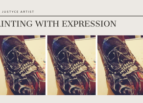 DAILY ART VIDEO | HOW TO PAINT SKULL AND ROSES ON BOOTS [Leah Justyce Artist]