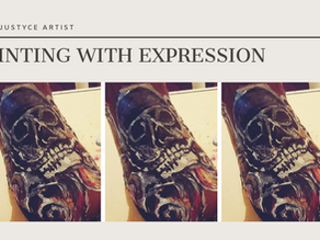 DAILY ART VIDEO   HOW TO PAINT SKULL AND ROSES ON BOOTS [Leah Justyce Artist]