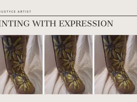 DAILY ART VIDEO | HOW TO PAINT SUNFLOWERS ON UGG BOOTS [Leah Justyce Artist]