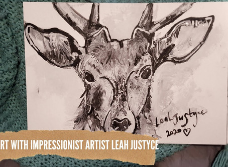 DAILY ART VIDEO | AMAZING ART VIDEO | PAINTING A STAG DEER [Leah Justyce Artist]