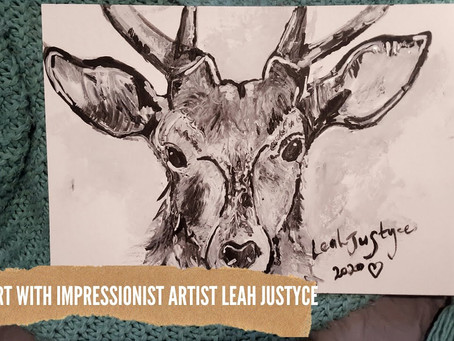 DAILY ART VIDEO   AMAZING ART VIDEO   PAINTING A STAG DEER [Leah Justyce Artist]