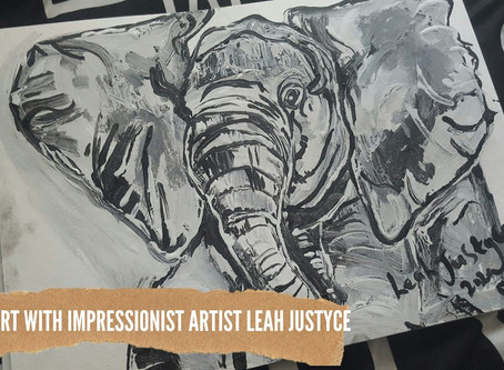 DAILY ART VIDEO | AMAZING ART VIDEO | PAINTING AN ELEPHANT [Leah Justyce Artist]