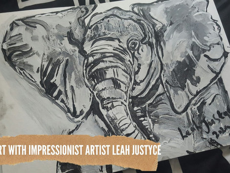 DAILY ART VIDEO   AMAZING ART VIDEO   PAINTING AN ELEPHANT [Leah Justyce Artist]