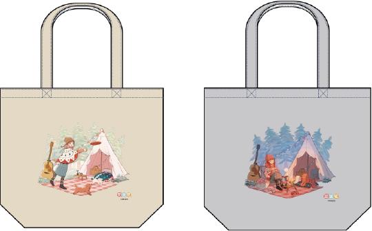 「愛犬とのキャンプ」をテーマとした描きおろしイラストを用いたグッズがヴィレヴァン限定で登場 トートバッグ