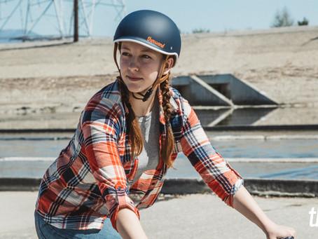 この可愛いヘルメット当選したら、E-bike買います!(宣言)
