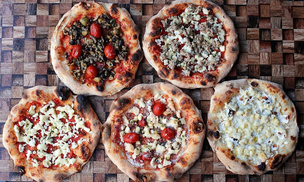 商品名:【5種の贅沢セット】 セット内容:「Pizza Tamaki」「Pizza マルゲリータ」「Pizza オリーブ」「Pizza ハーブソーセージ」「Pizza 5種のチーズ」