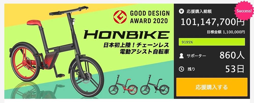 Makuake「HONBIKE」プロジェクト