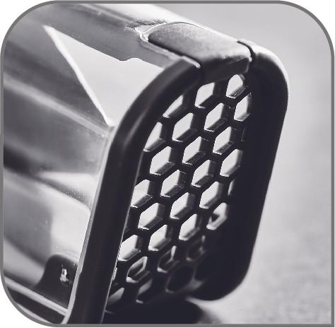 スムーズに乾燥 空気が通る穴でキッチンナイフをしっかり乾燥します。
