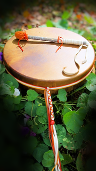 decorated shamans drum from Thunder Valley Drums