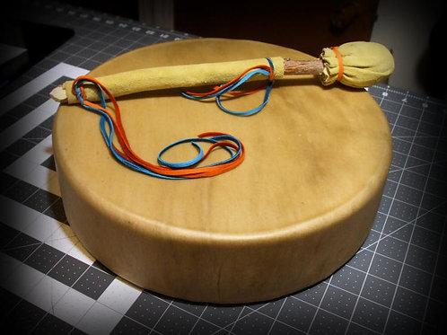 """ELK 12"""" DEEP FRAME Drum w/Custom Drumstick"""