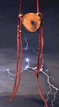 lightning necklace with lightning backgr