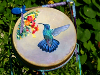shaman's drum 12-inch painted
