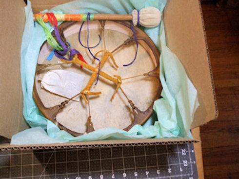 """ELK 12"""" Drum w/Custom Drumstick"""