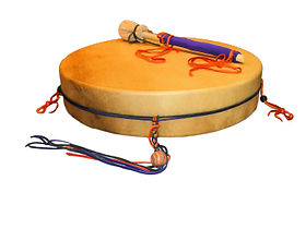 decorated thunder drum from thunder vall