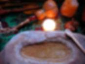 closeup of a shamanic altar