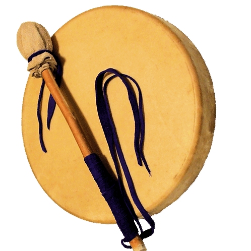 "Elk 10"" Drum w/ Custom Drumstick"