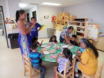 teachers and students at the Hopi School