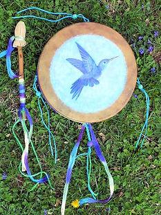 12 inch painted shamanic Drum
