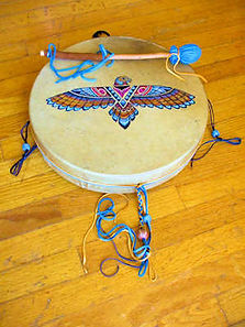 painted 15 inch elk shaman drum 300.jpg