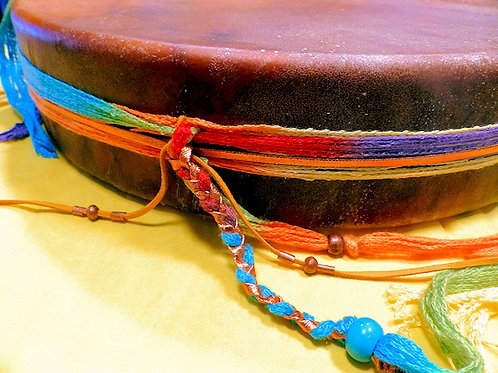 "Horsehide 12"" Decorated Drum w/ all accessories"
