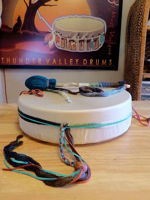"Bob's 12"" Decorated Drum w/ all accessories"