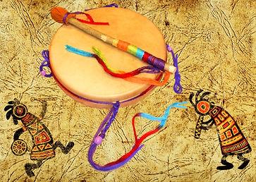 shaman drum decorated