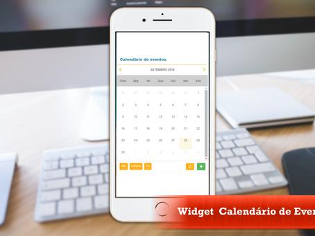 Widget Calendário de Eventos