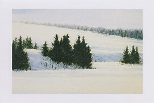 絵葉書『雪の丘』