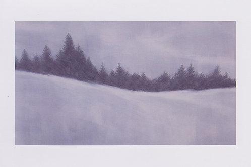 絵葉書『冬の森』