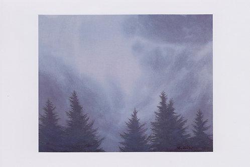 絵葉書『ヒマラヤ杉と雲』