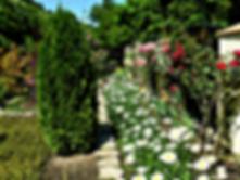 Гостевой дом Лесной утопает в зелени и цветах