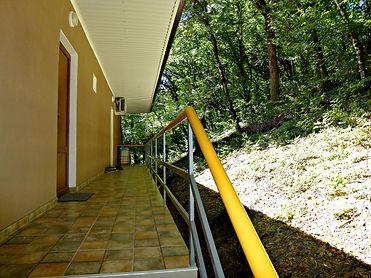 Апартаменты с отдельным входом, прямо в лесу.