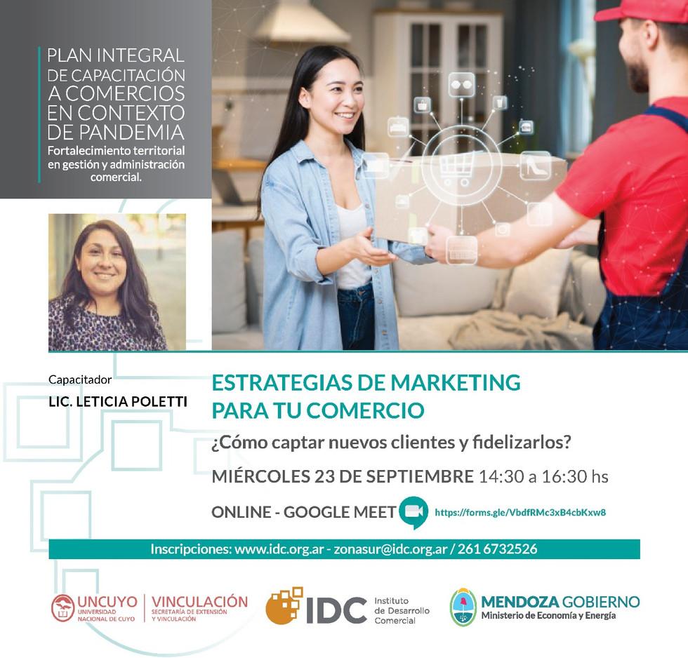El IDC y la UNCuyo capacitarán a comerciantes en estrategias de marketing