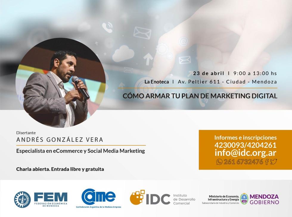 """El IDC invita a participar de la charla """"Cómo armar tu plan de Marketing"""""""