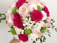 Bouquet redondo rosa