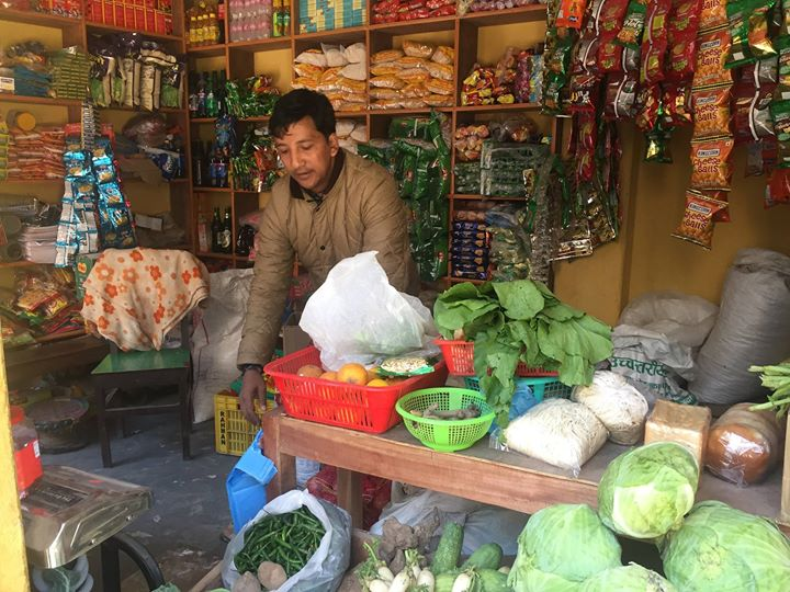 Buying supplies for Kali Gandaki River