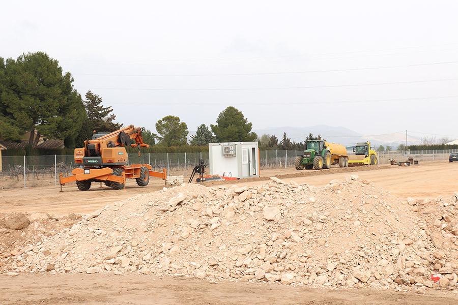 Máquinas trabajando en las nuevas instalaciones de Mapay