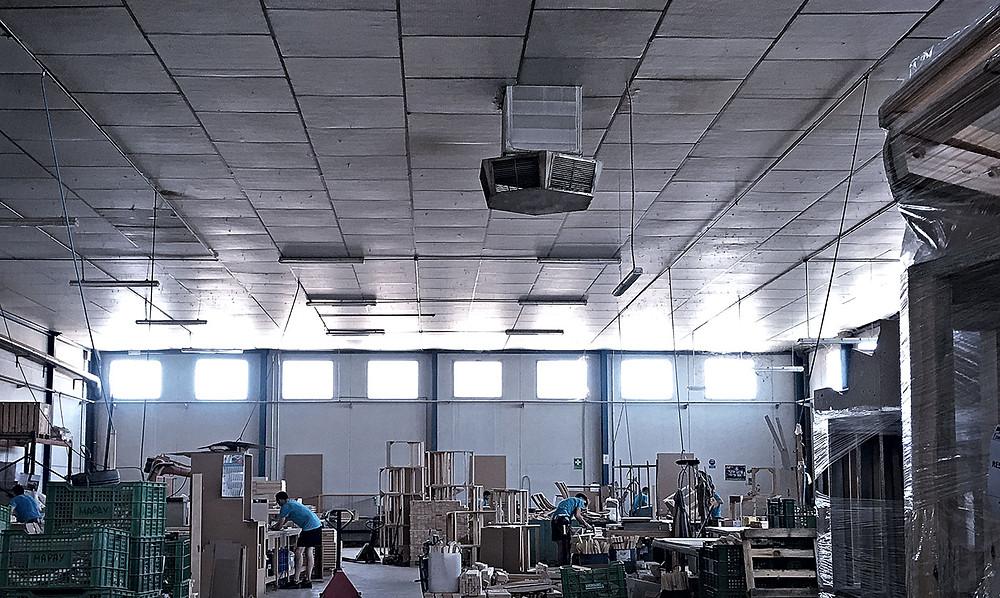 Vista parcial de una de las tres fábricas de Mapay