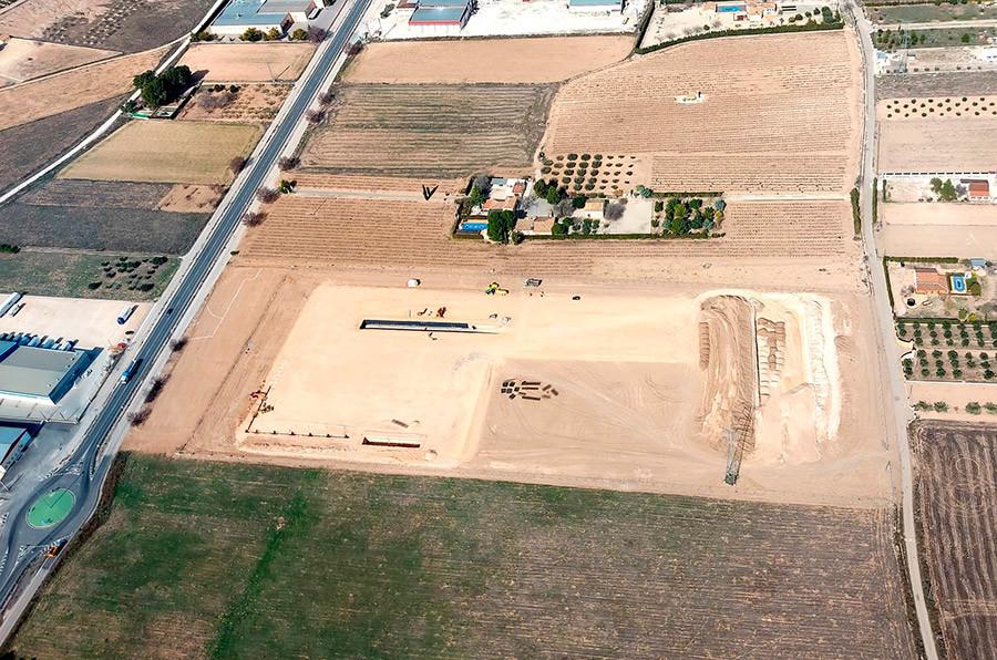 Vista aérea de las instalaciones de Mapay en Yecla