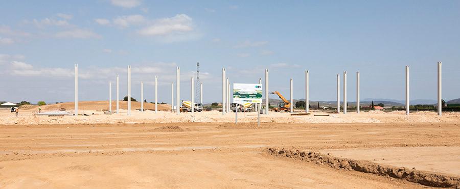 Levantamiento de pilares de la nueva industria de Mapay