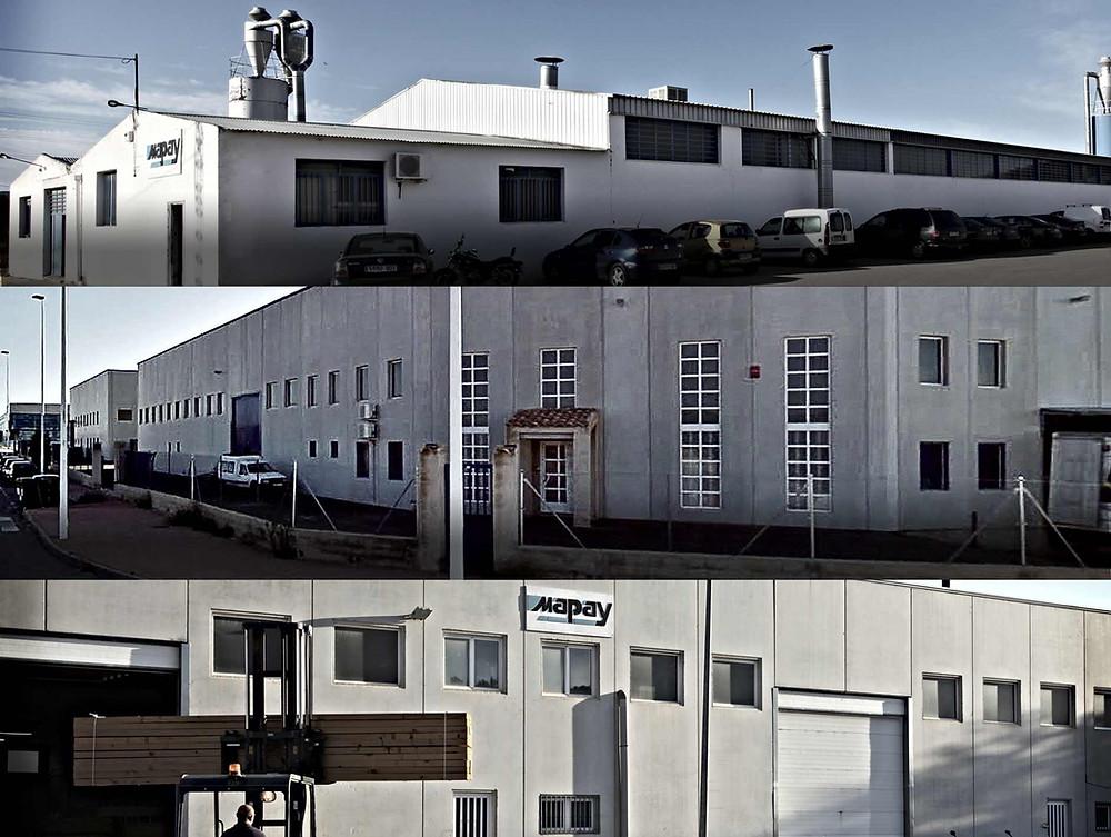 Fábricas de armazones y tiradores de Mapay en Yecla