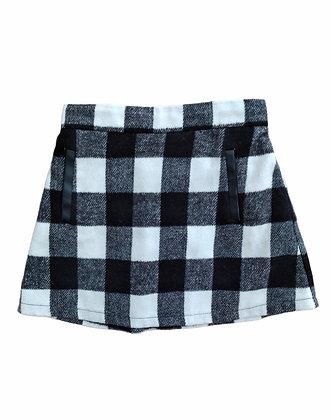 Kostkatá bíločerná sukně, F&F, 3-4 roky