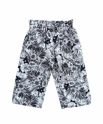 Černobílé květované kalhoty, ZARA, vel. 5 let